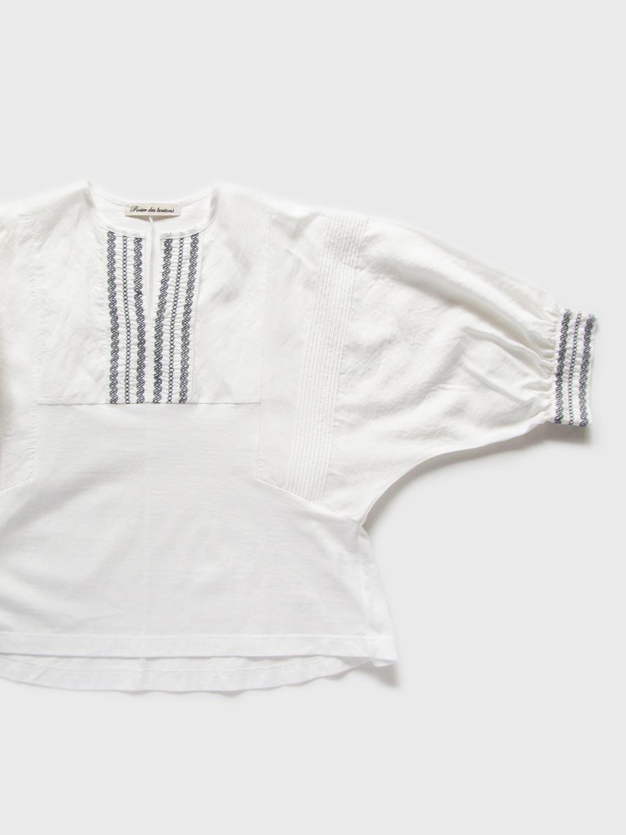 ピンタック×刺繍プルオーバー(2021 Summer Collection) 3