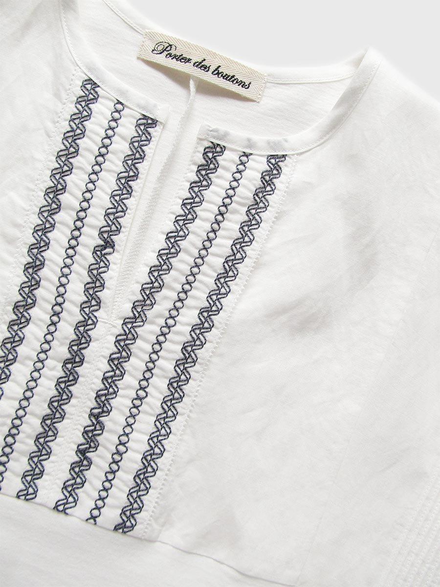 ピンタック×刺繍プルオーバー(2021 Summer Collection) 4