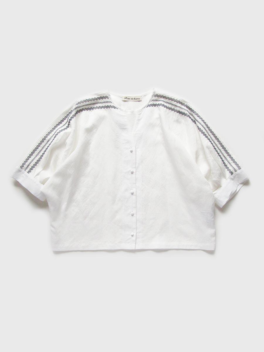 ピンタック×刺繍ブラウス(2021 Summer Collection) 2