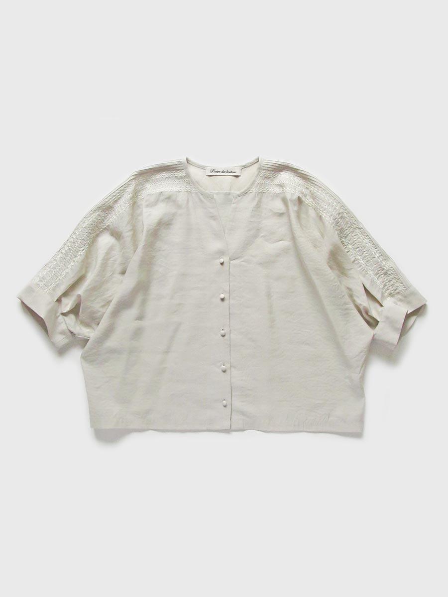 ピンタック×刺繍ブラウス(2021 Summer Collection) 14