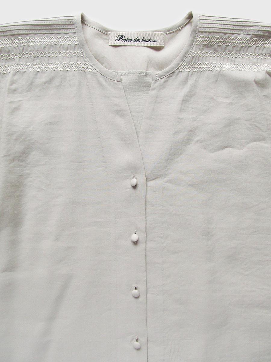 ピンタック×刺繍ブラウス(2021 Summer Collection) 16