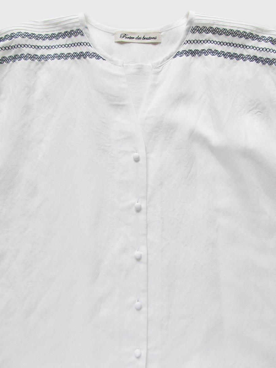ピンタック×刺繍ブラウス(2021 Summer Collection) 3