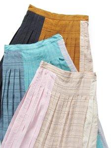 カラーコンビネーションプリーツスカート(2021 Summer Collection)