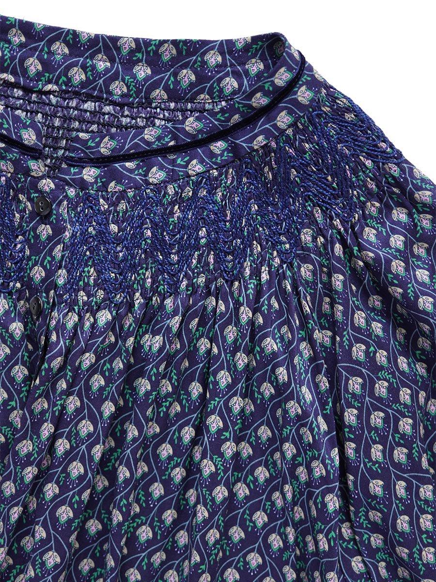 LIBERTY PRINTスモッキング刺繍ドレス(2021-22 Autumn Winter Collection) 16
