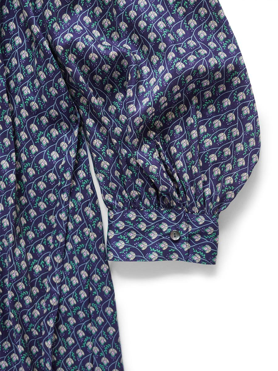 LIBERTY PRINTスモッキング刺繍ドレス(2021-22 Autumn Winter Collection) 17