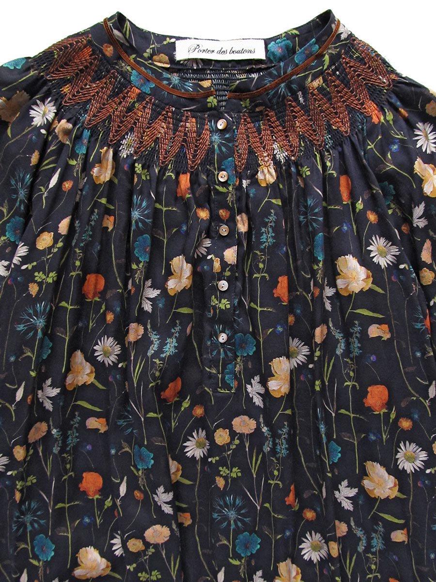 LIBERTY PRINTスモッキング刺繍ドレス(2021-22 Autumn Winter Collection) 6