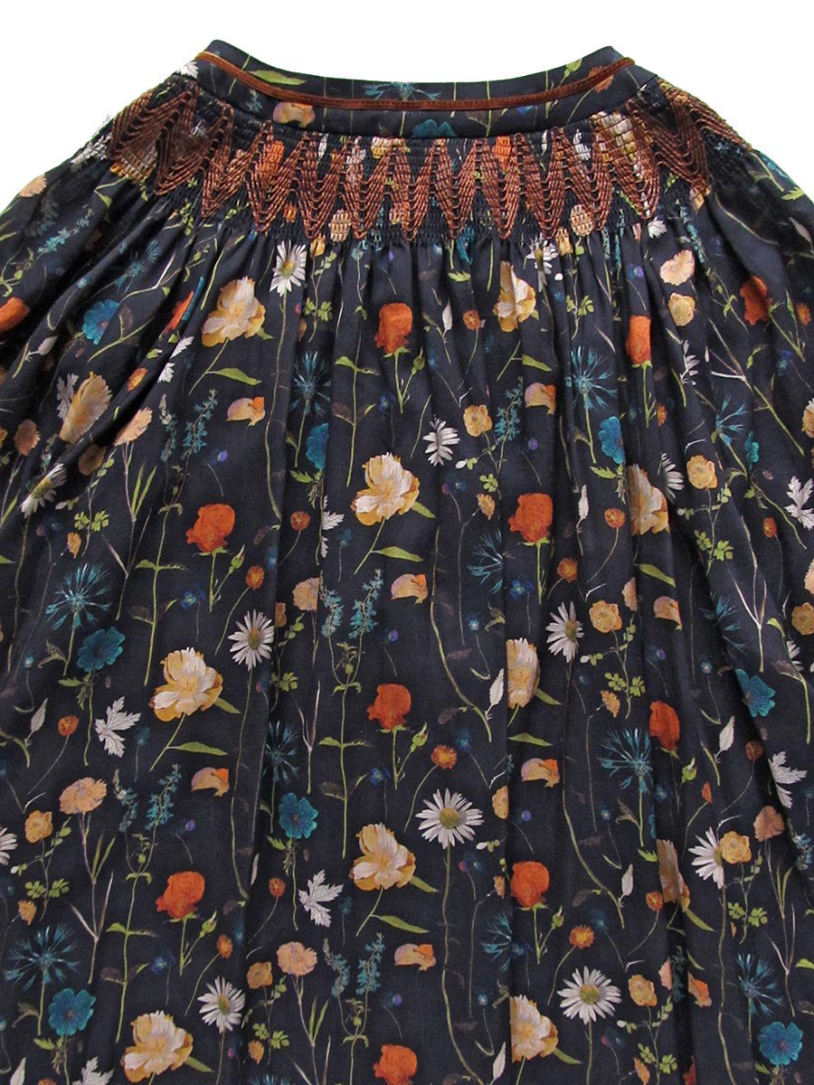 LIBERTY PRINTスモッキング刺繍ドレス(2021-22 Autumn Winter Collection) 7