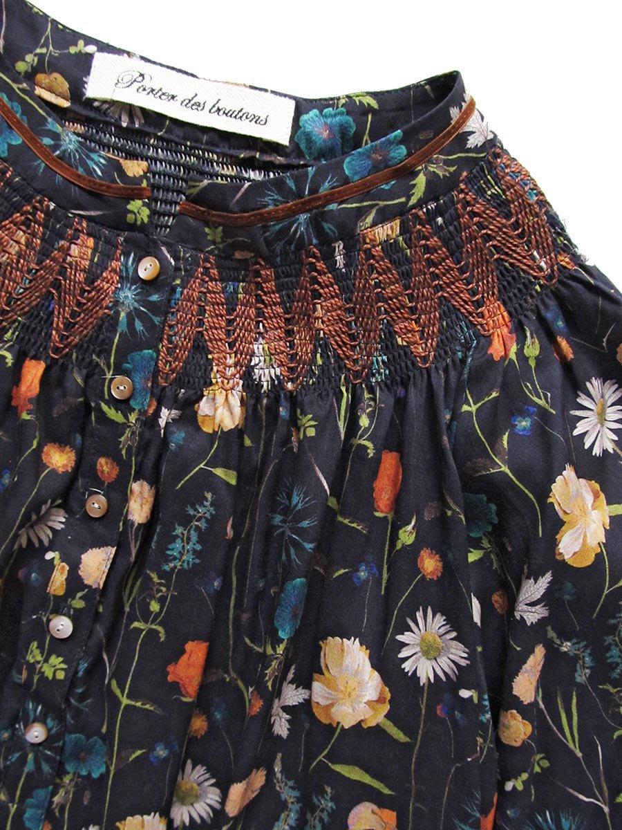LIBERTY PRINTスモッキング刺繍ドレス(2021-22 Autumn Winter Collection) 8