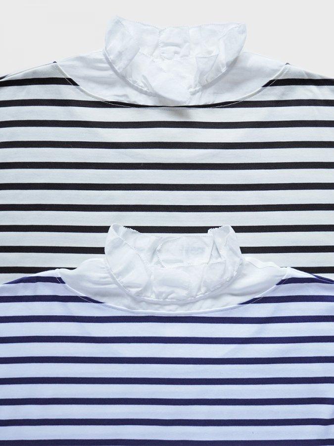 フリルカラーボーダーシャツ(2021-22 Autumn Winter Collection) 2