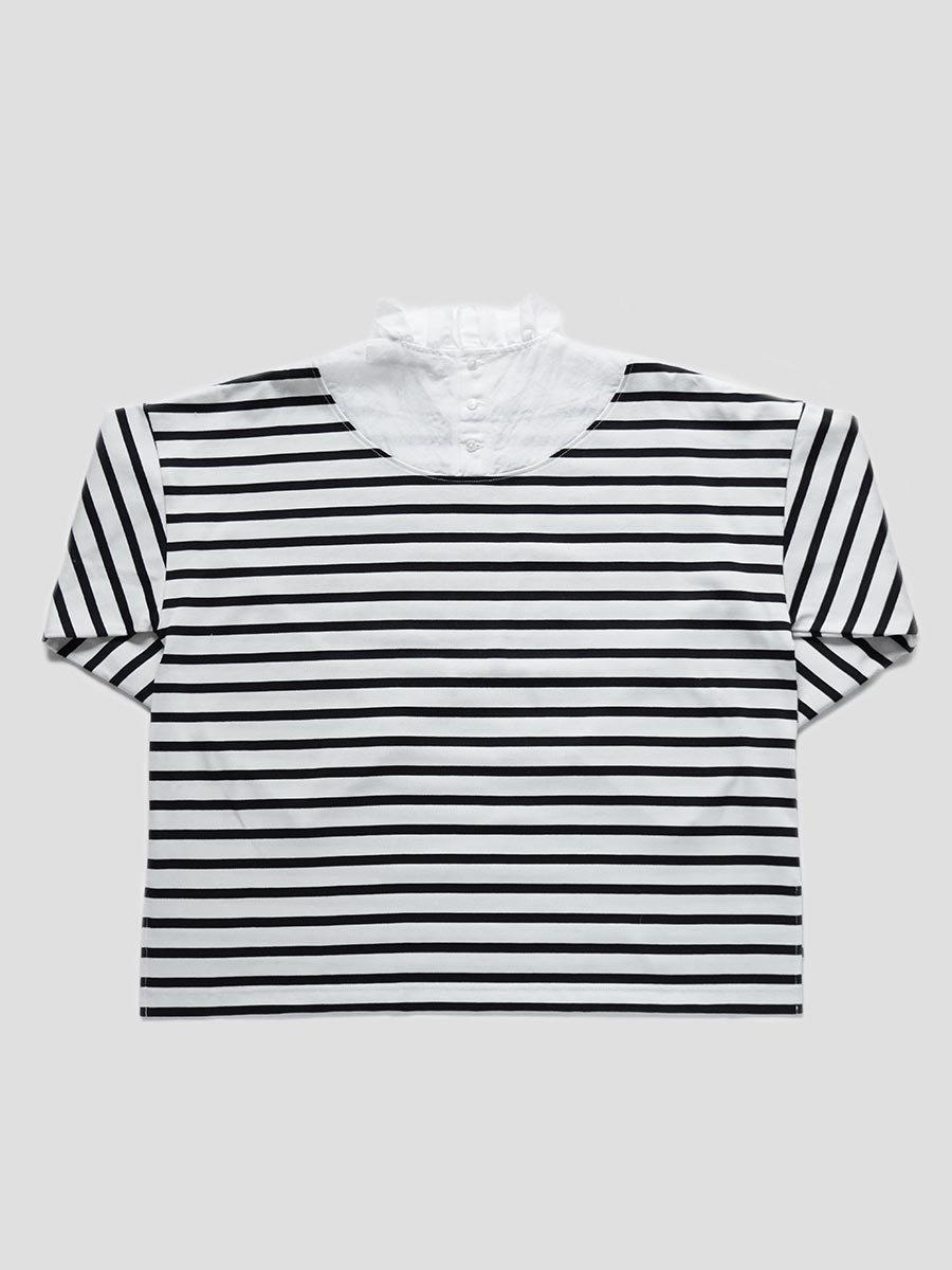 フリルカラーボーダーシャツ(2021-22 Autumn Winter Collection) 11