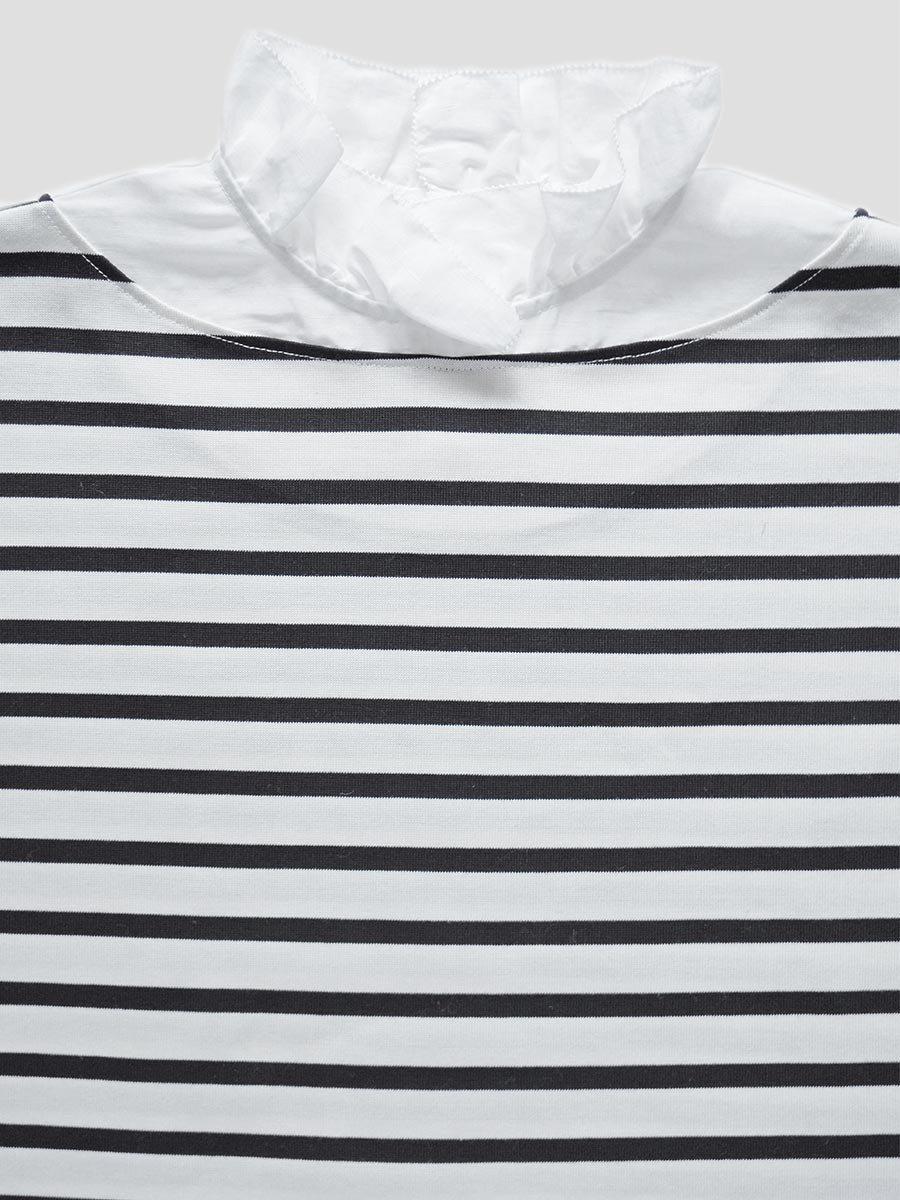 フリルカラーボーダーシャツ(2021-22 Autumn Winter Collection) 12