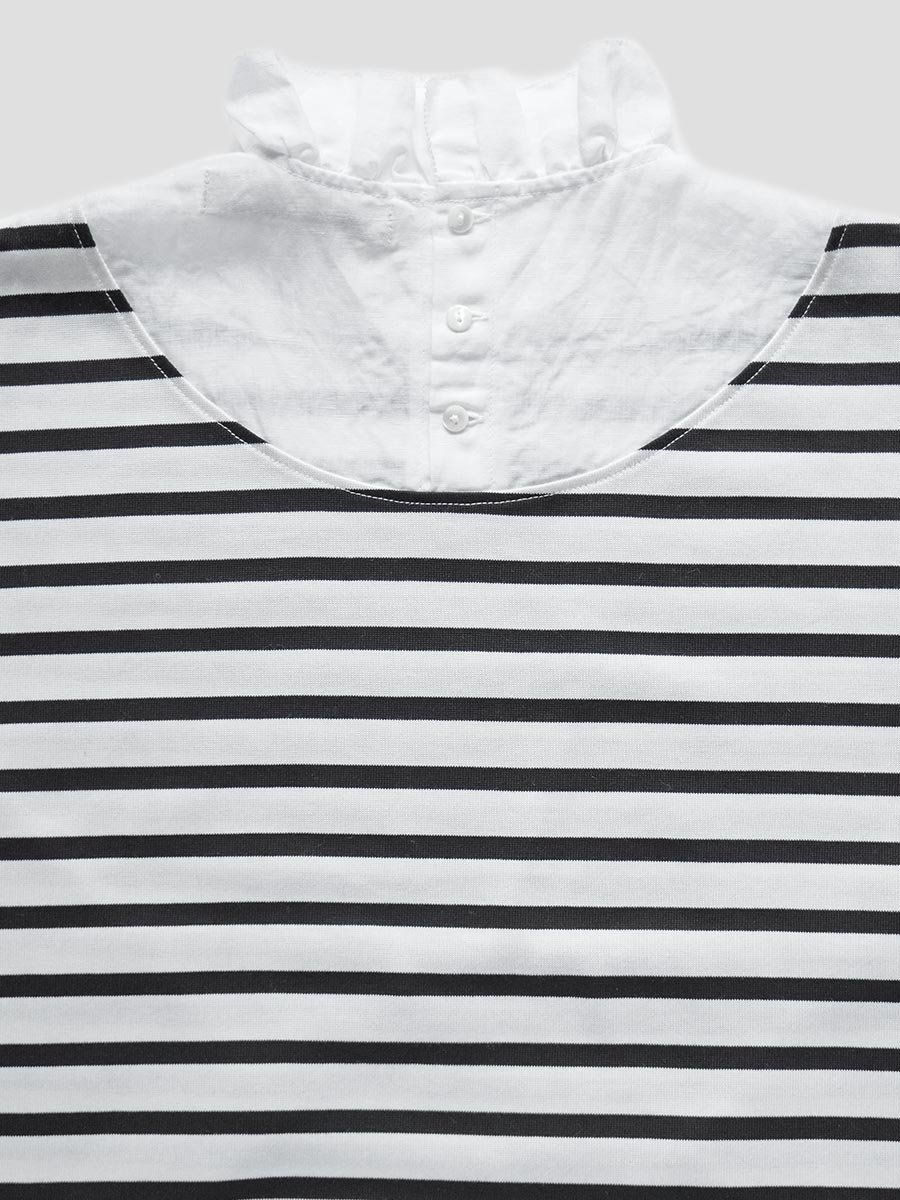フリルカラーボーダーシャツ(2021-22 Autumn Winter Collection) 13