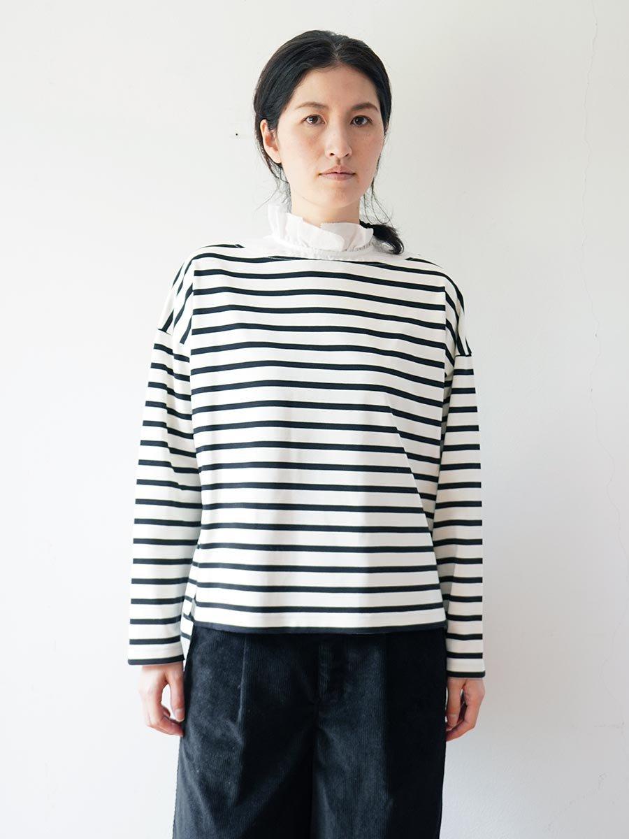 フリルカラーボーダーシャツ(2021-22 Autumn Winter Collection) 16