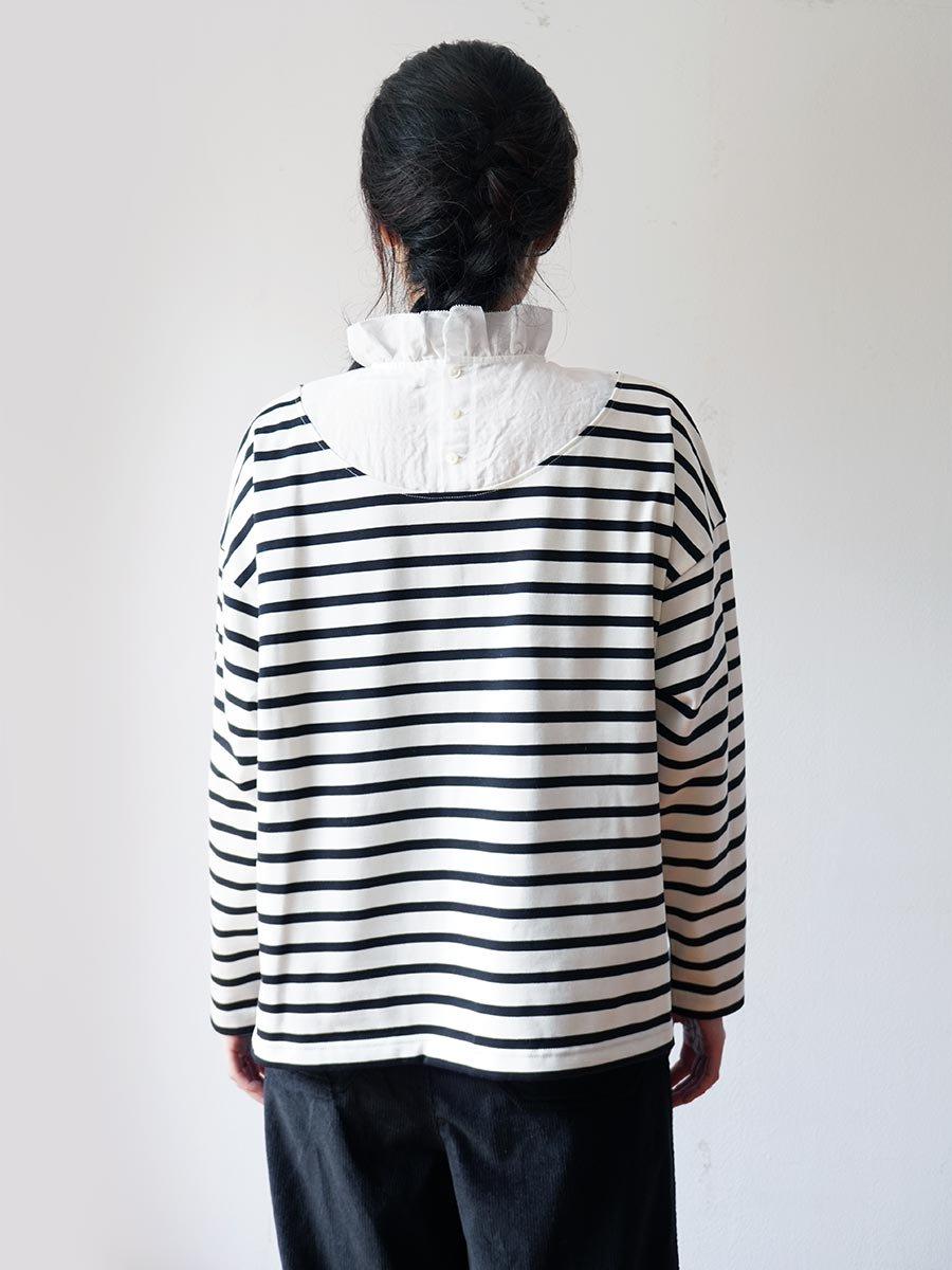 フリルカラーボーダーシャツ(2021-22 Autumn Winter Collection) 17