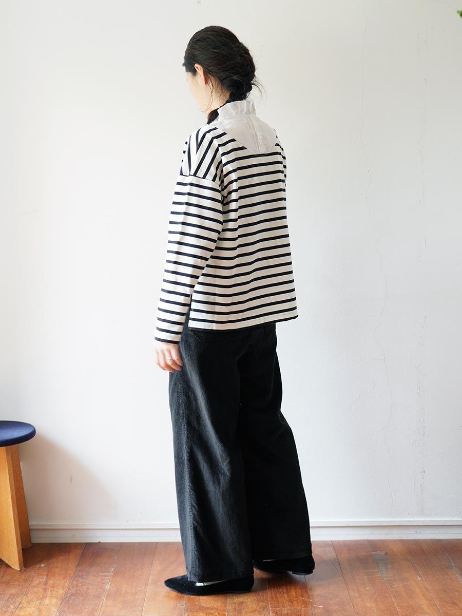 フリルカラーボーダーシャツ(2021-22 Autumn Winter Collection) 19