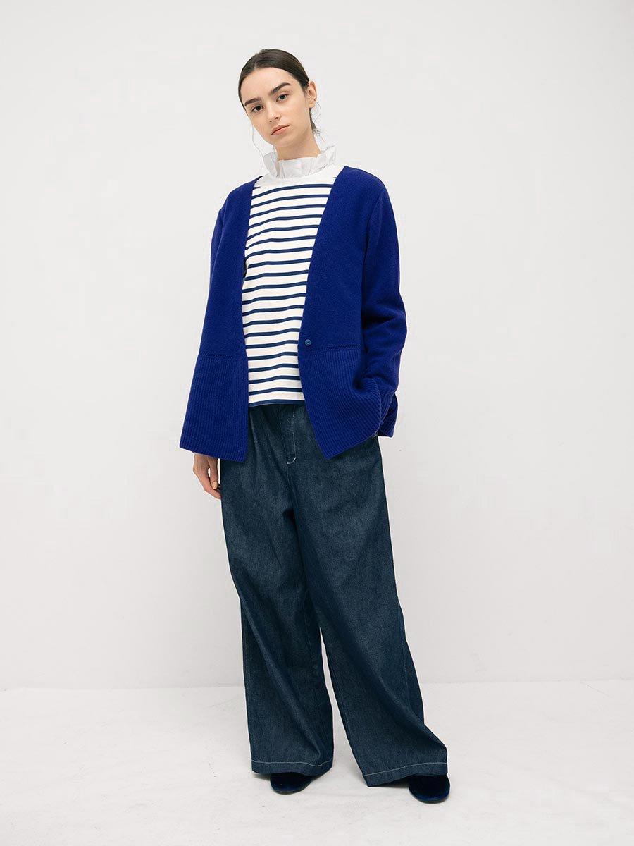 フリルカラーボーダーシャツ(2021-22 Autumn Winter Collection) 20