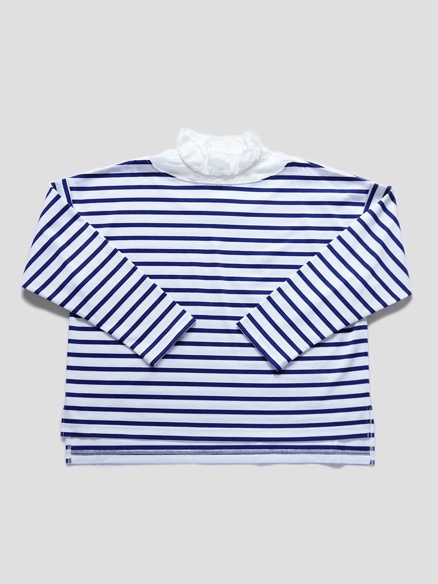 フリルカラーボーダーシャツ(2021-22 Autumn Winter Collection) 3