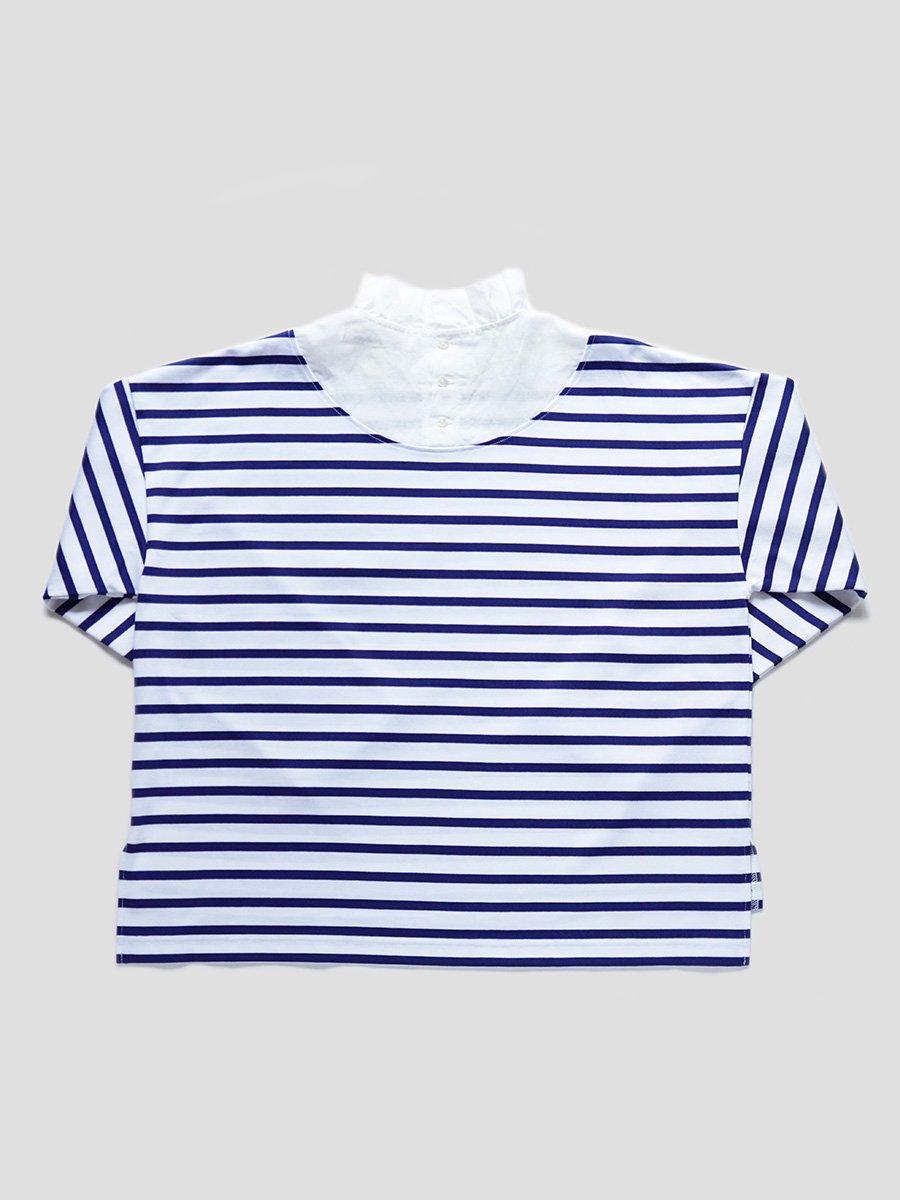 フリルカラーボーダーシャツ(2021-22 Autumn Winter Collection) 4