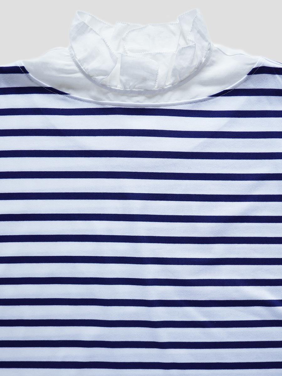 フリルカラーボーダーシャツ(2021-22 Autumn Winter Collection) 5
