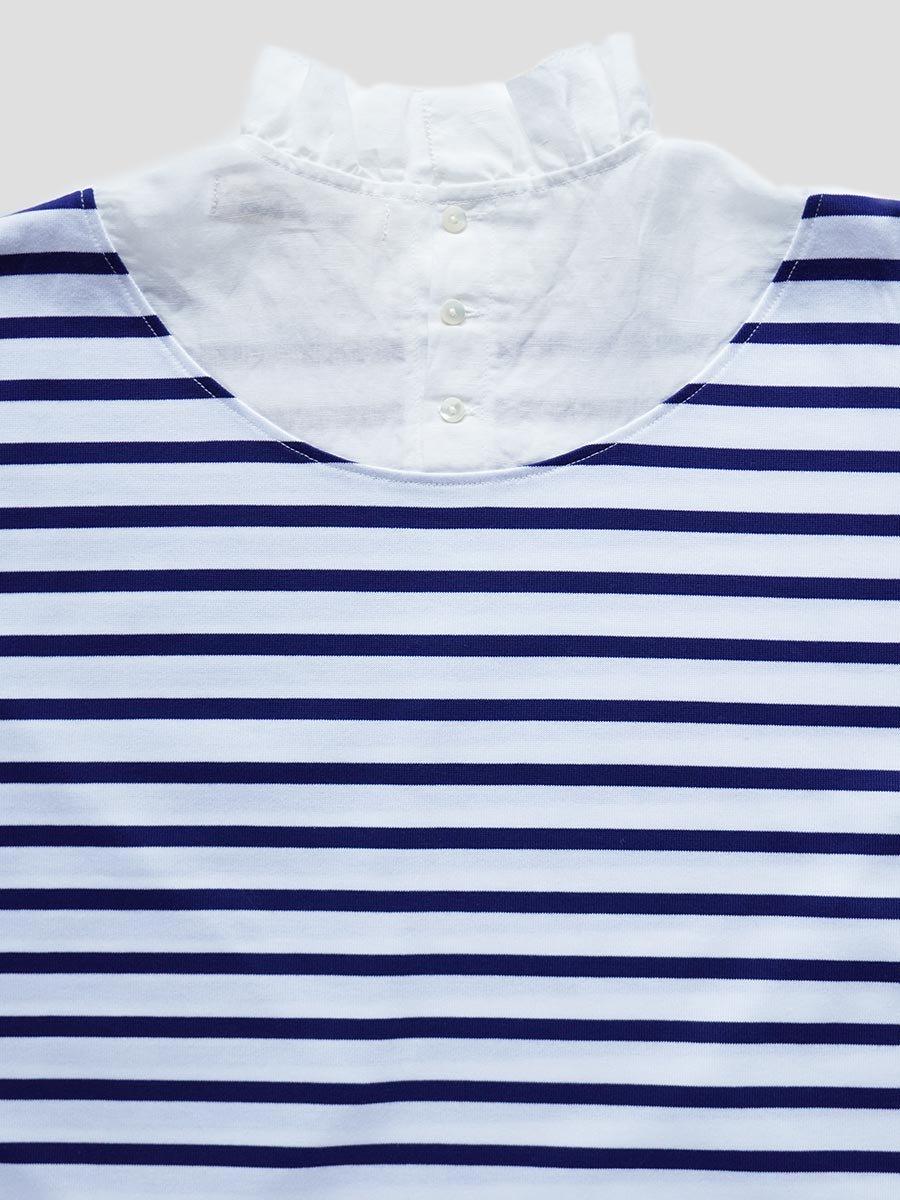 フリルカラーボーダーシャツ(2021-22 Autumn Winter Collection) 6