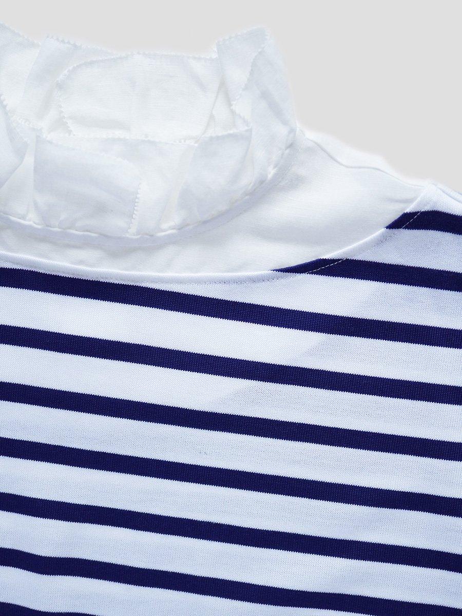 フリルカラーボーダーシャツ(2021-22 Autumn Winter Collection) 7