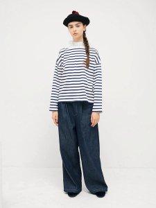 フリルカラーボーダーシャツ(2021-22 Autumn Winter Collection)
