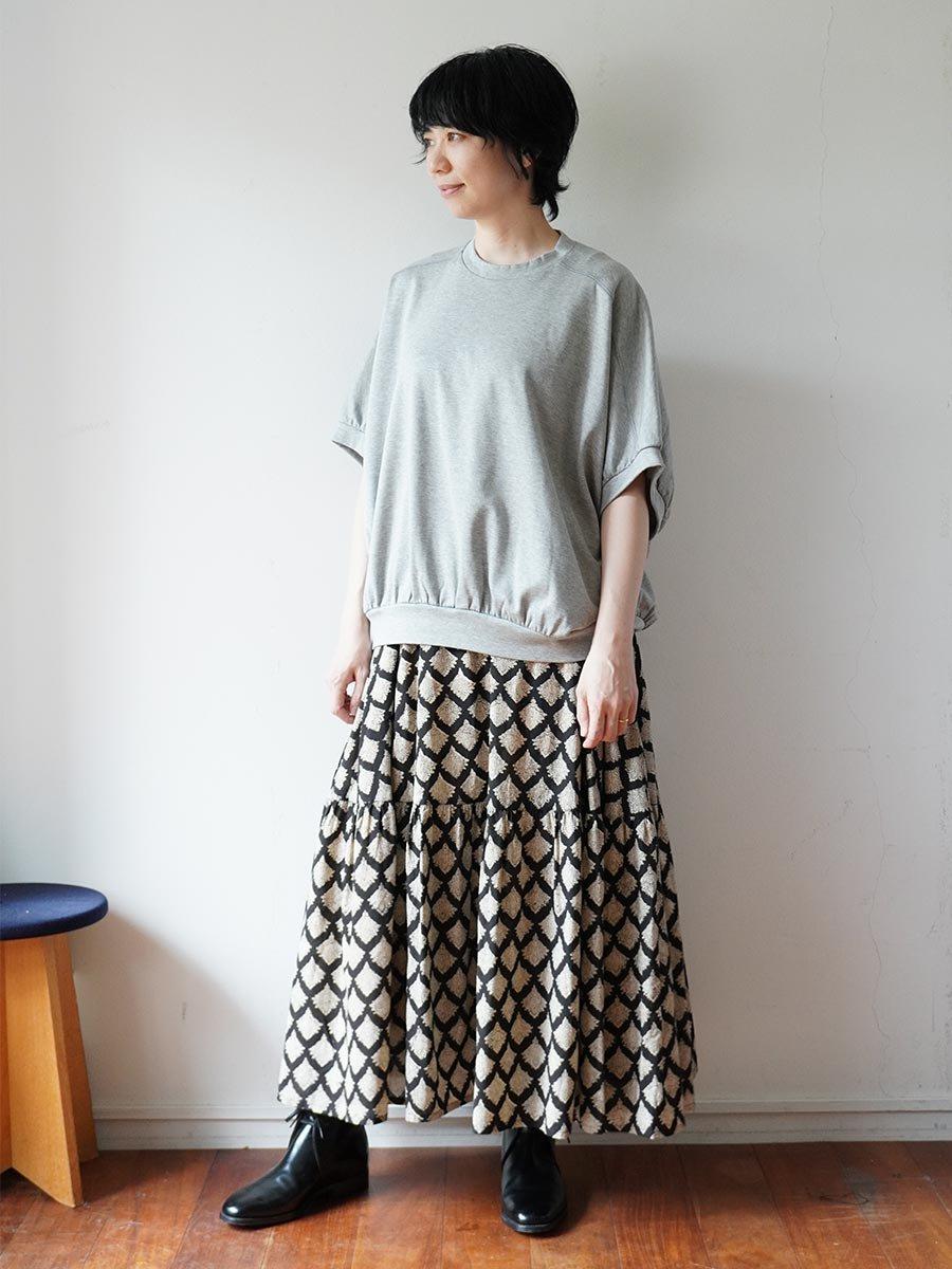 ブロックプリントティアードスカート(2021-22 Autumn Winter Collection) 11