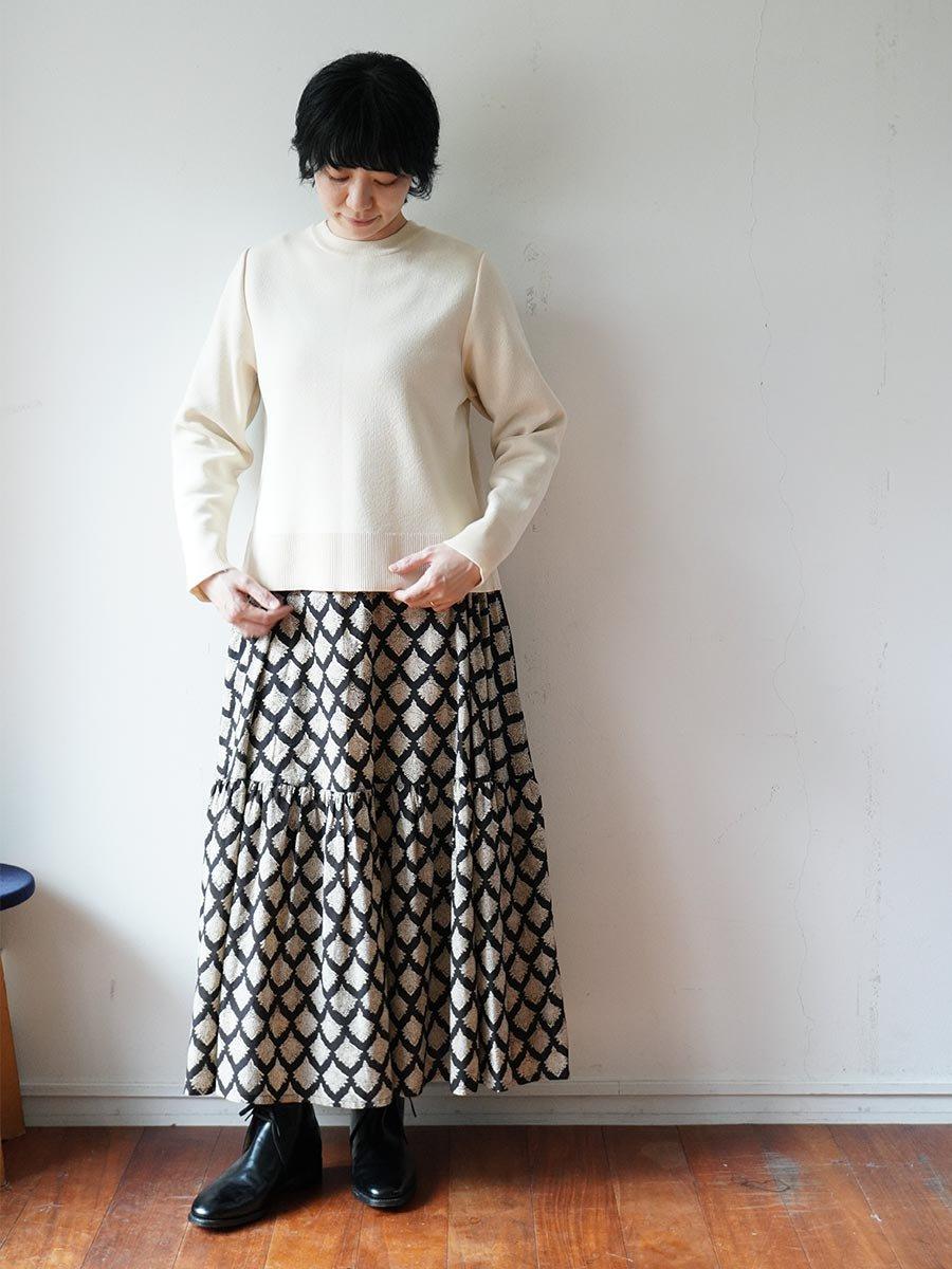 ブロックプリントティアードスカート(2021-22 Autumn Winter Collection) 12