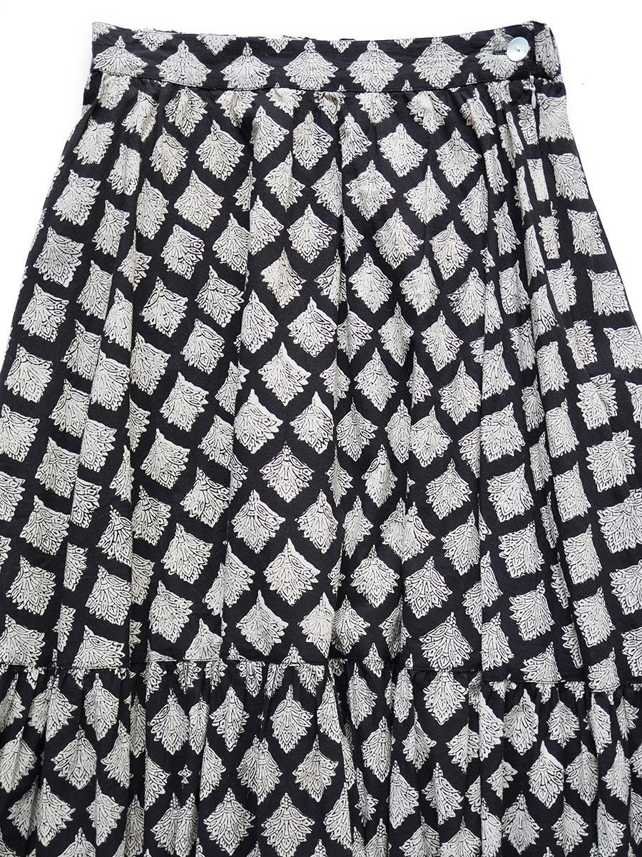 ブロックプリントティアードスカート(2021-22 Autumn Winter Collection) 3