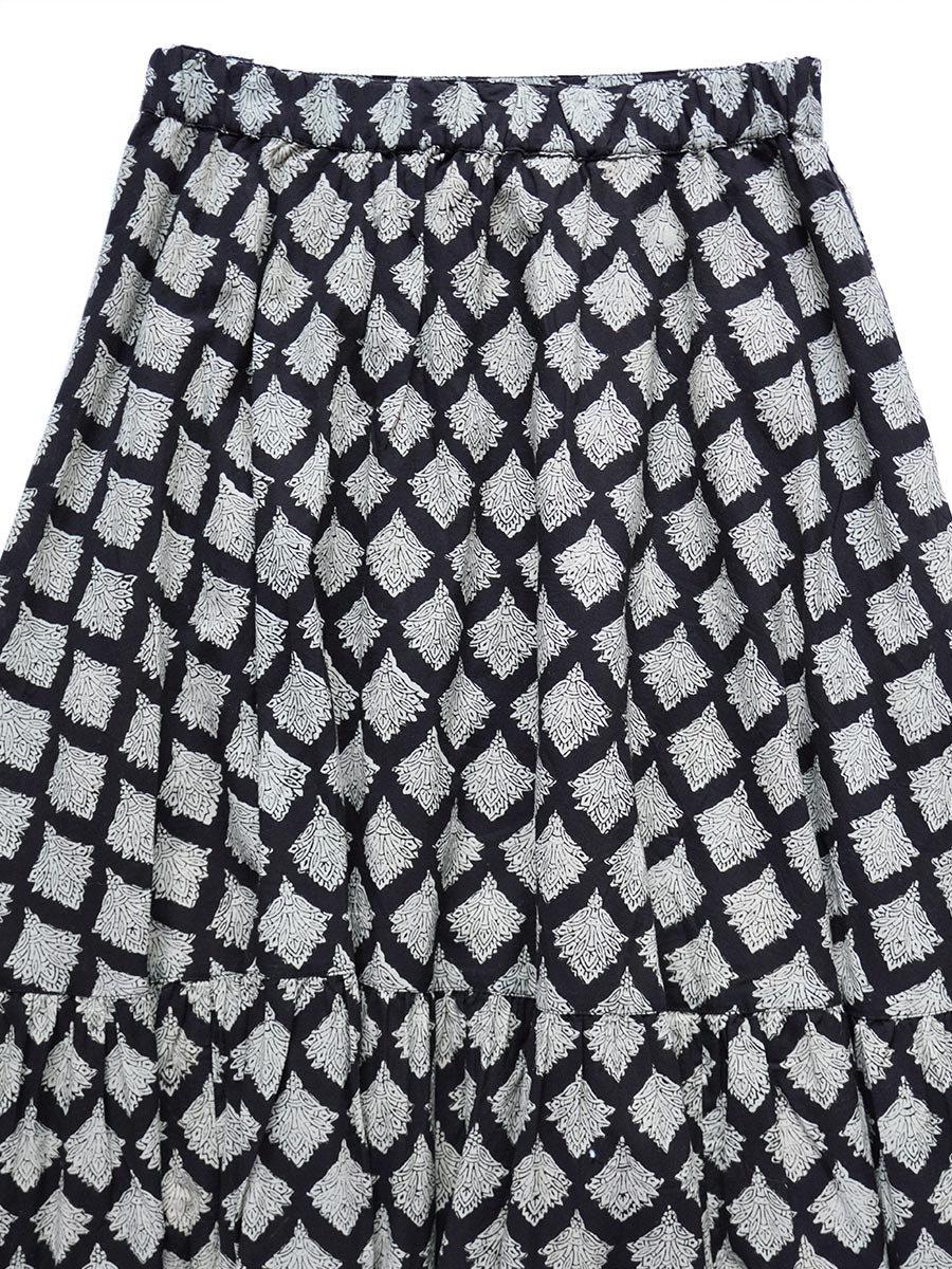 ブロックプリントティアードスカート(2021-22 Autumn Winter Collection) 4