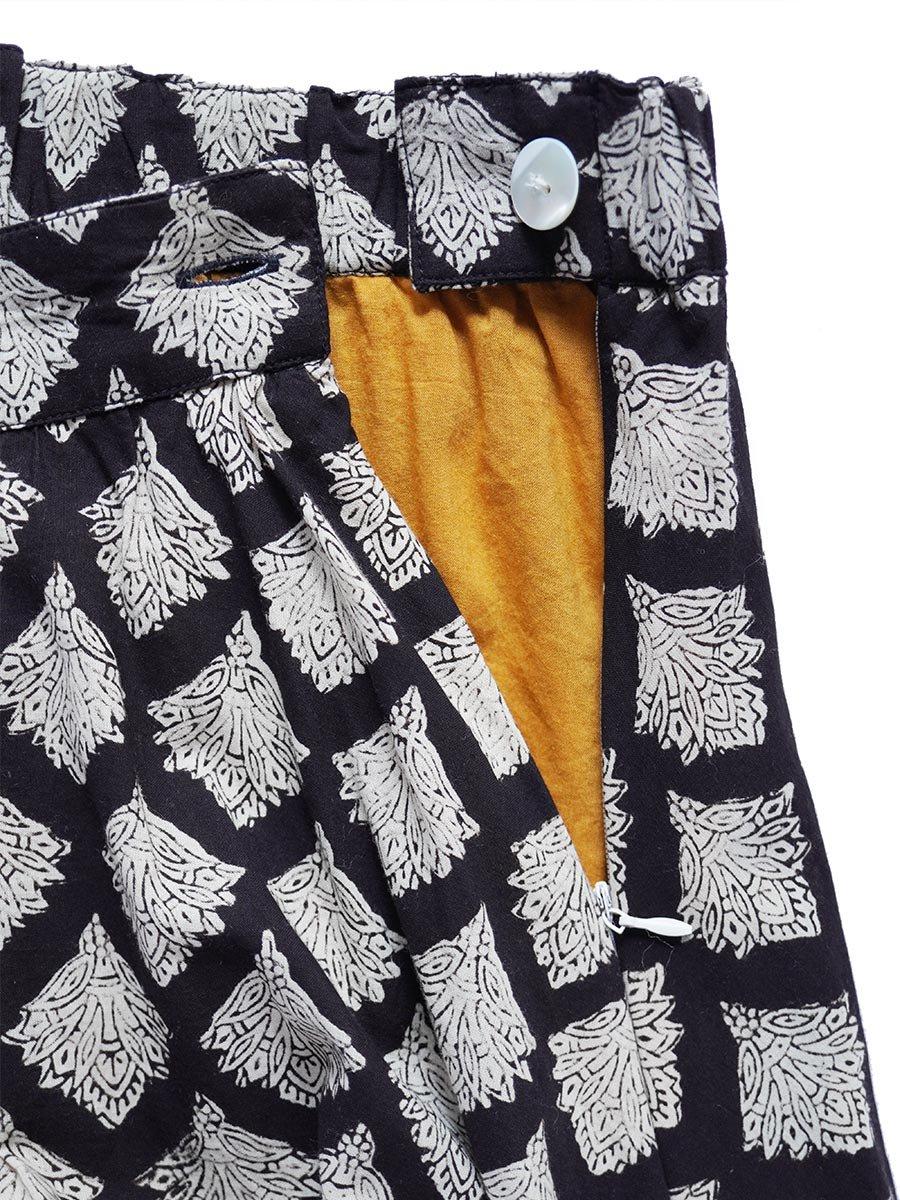 ブロックプリントティアードスカート(2021-22 Autumn Winter Collection) 5
