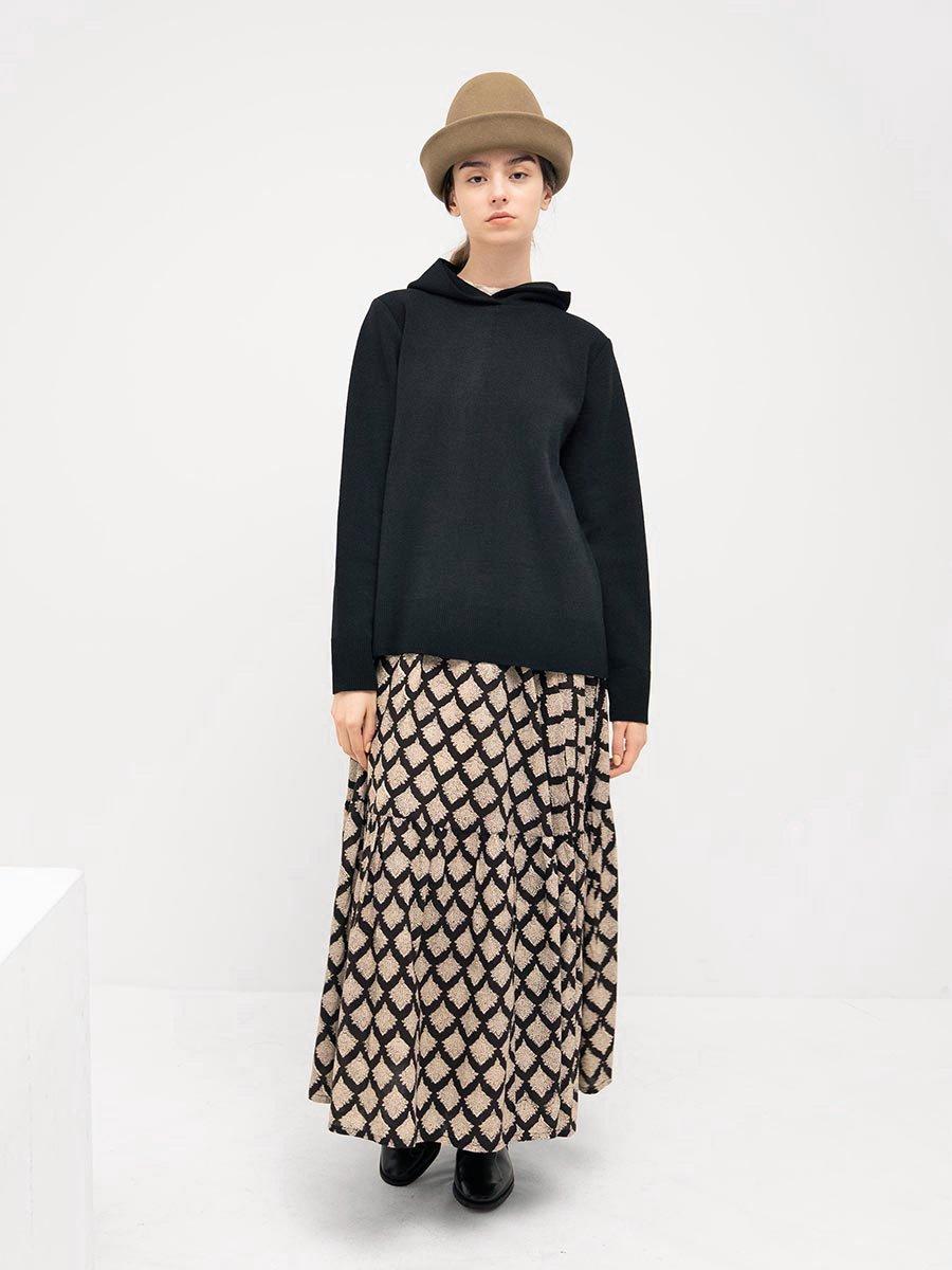 ブロックプリントティアードスカート(2021-22 Autumn Winter Collection) 9