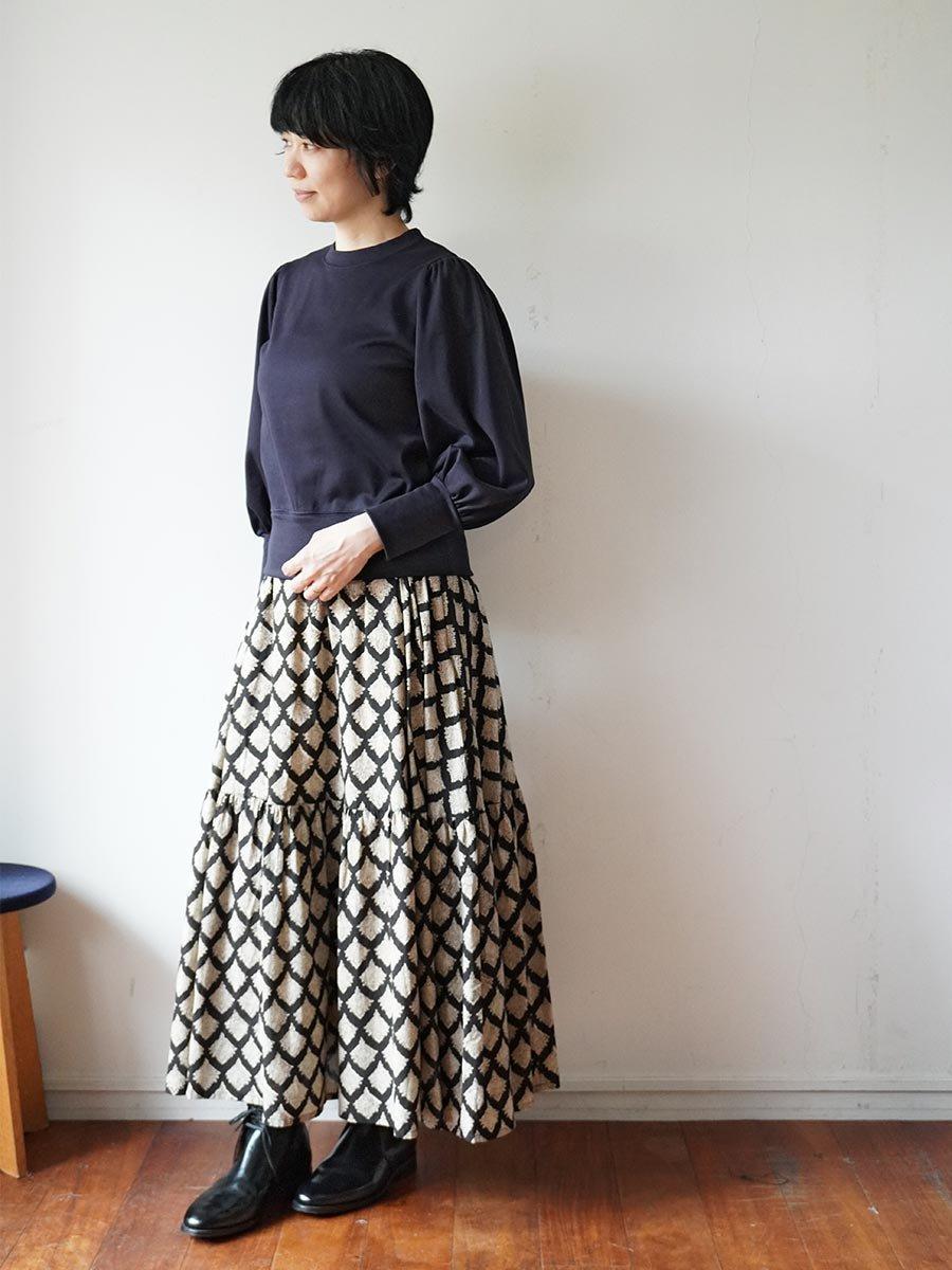 ブロックプリントティアードスカート(2021-22 Autumn Winter Collection) 10