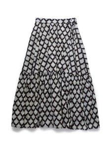 ブロックプリントティアードスカート(2021-22 Autumn Winter Collection)