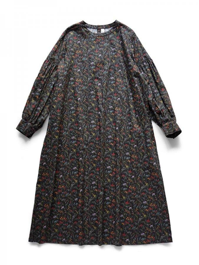 LIBERTY PRINTギャザースリーブドレス(2021-22 Autumn Winter Collection) 2