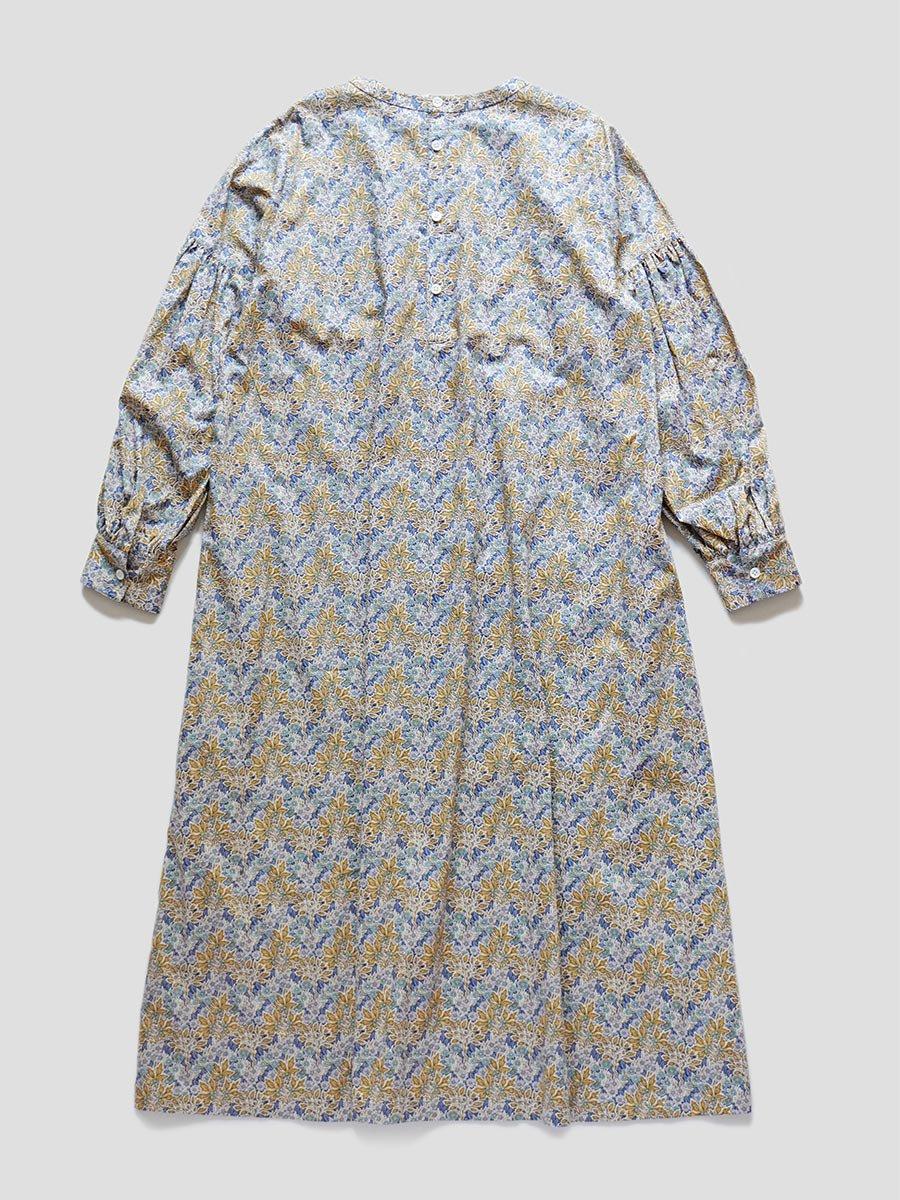LIBERTY PRINTギャザースリーブドレス(2021-22 Autumn Winter Collection) 11