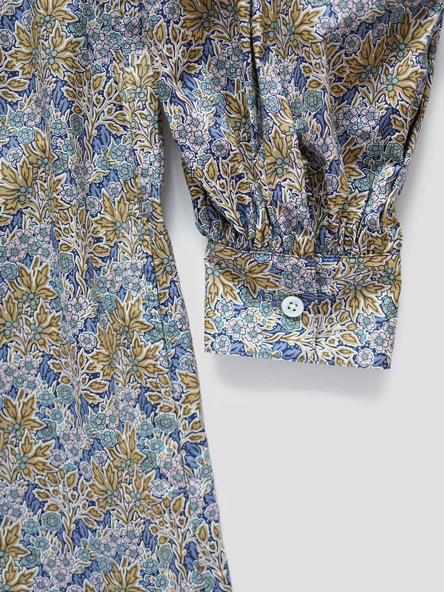 LIBERTY PRINTギャザースリーブドレス(2021-22 Autumn Winter Collection) 15