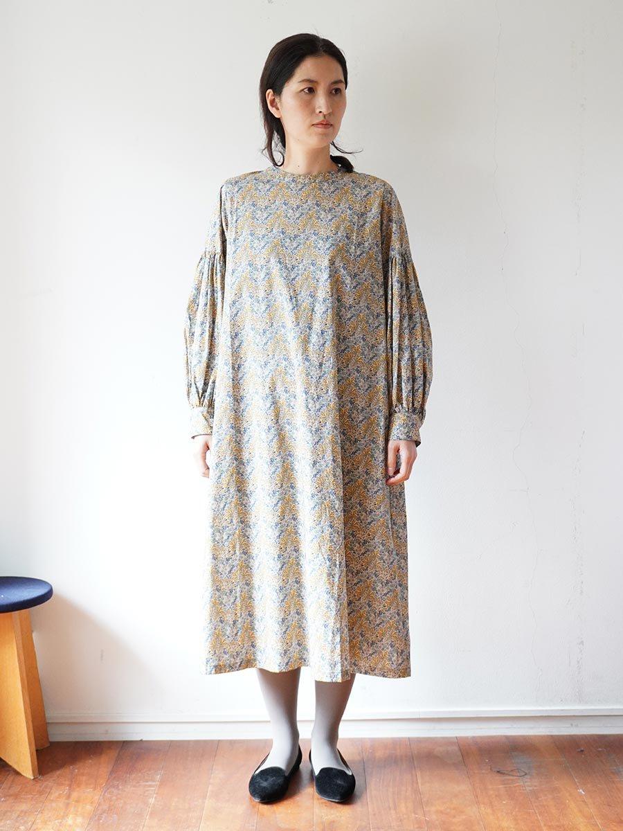 LIBERTY PRINTギャザースリーブドレス(2021-22 Autumn Winter Collection) 16