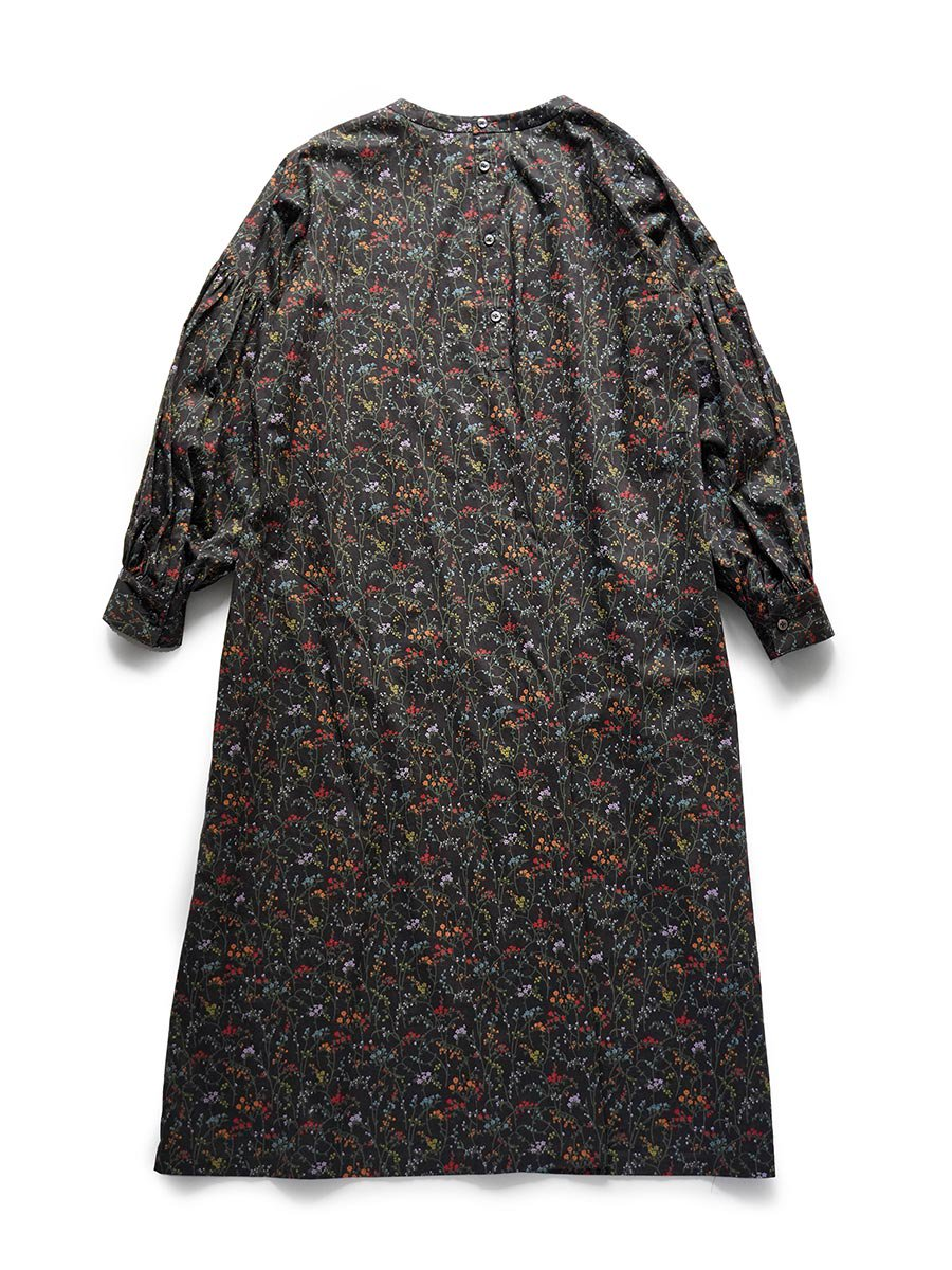 LIBERTY PRINTギャザースリーブドレス(2021-22 Autumn Winter Collection) 3