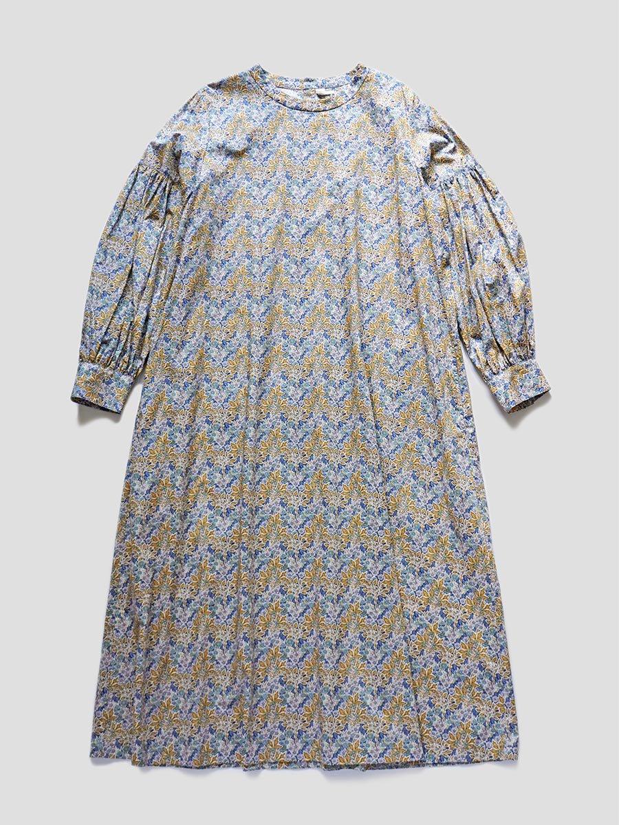 LIBERTY PRINTギャザースリーブドレス(2021-22 Autumn Winter Collection) 10