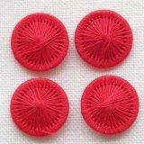 チェコの糸ボタン 赤