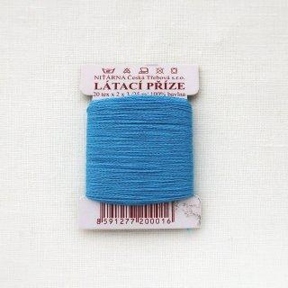 チェコのコットン糸  コバルトブルー