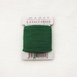 チェコのコットン糸  緑