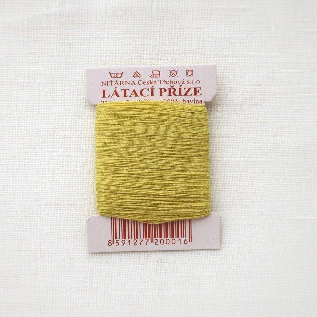 チェコのコットン糸  レモン色