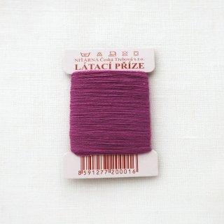 チェコのコットン糸  赤紫