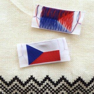 チェコ国旗ラベル(2枚)