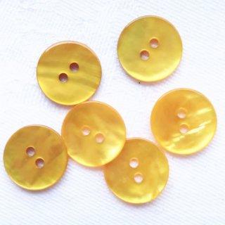 カラー貝ボタン12mm 黄色