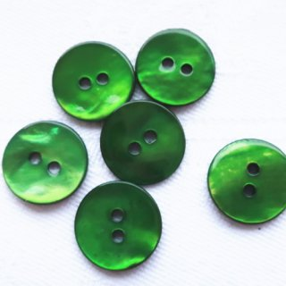 カラー貝ボタン12mm グリーン