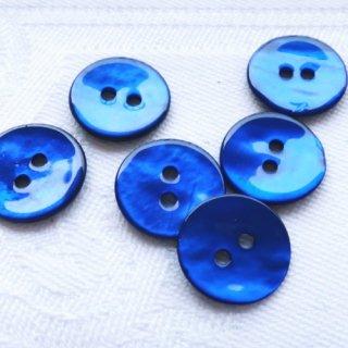 カラー貝ボタン12mm ブルー
