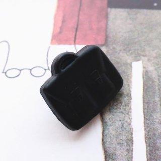 ボタン 黒いかばん